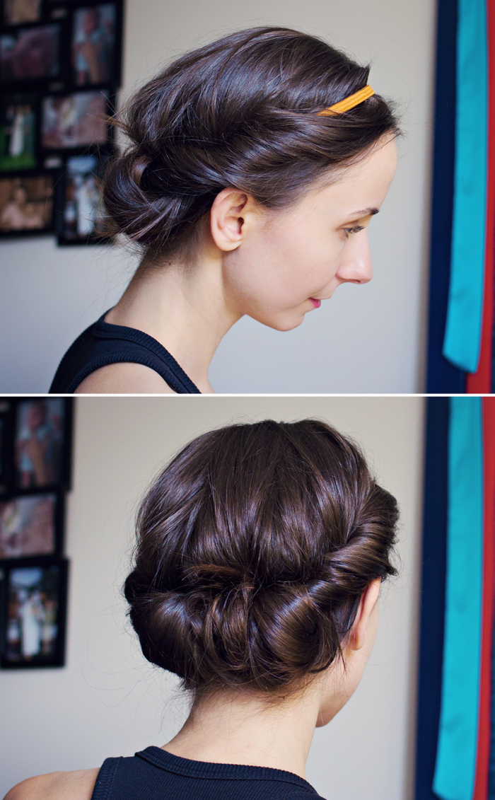 hair tutorial: easy headband updo – moda mama