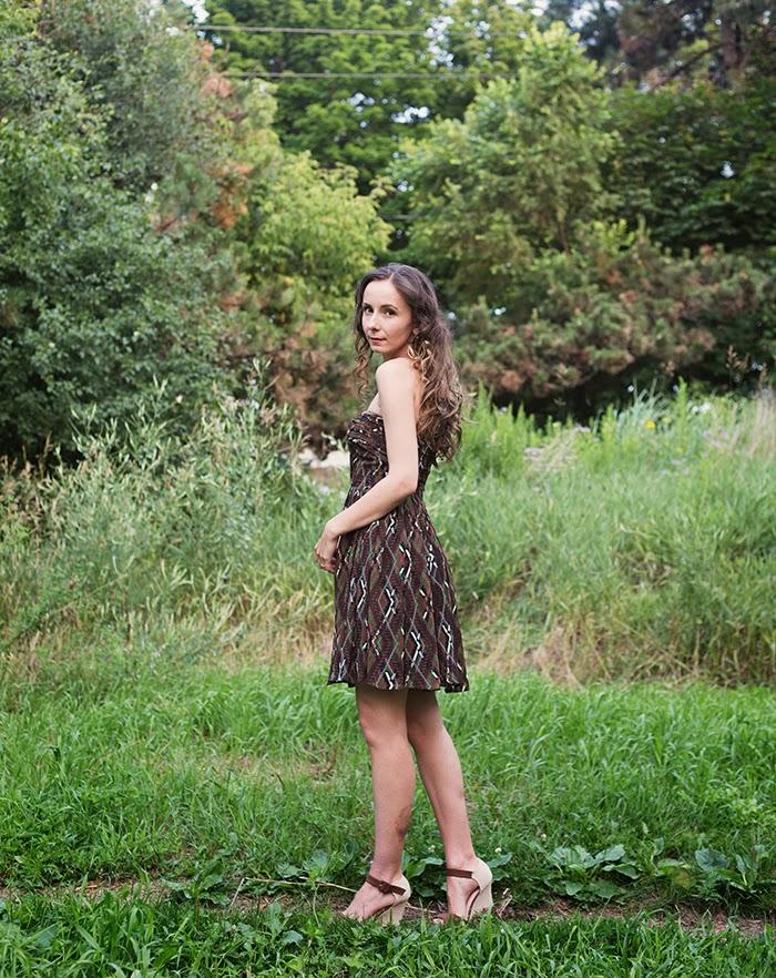 Strapless-tribal-dress-Party-Dress