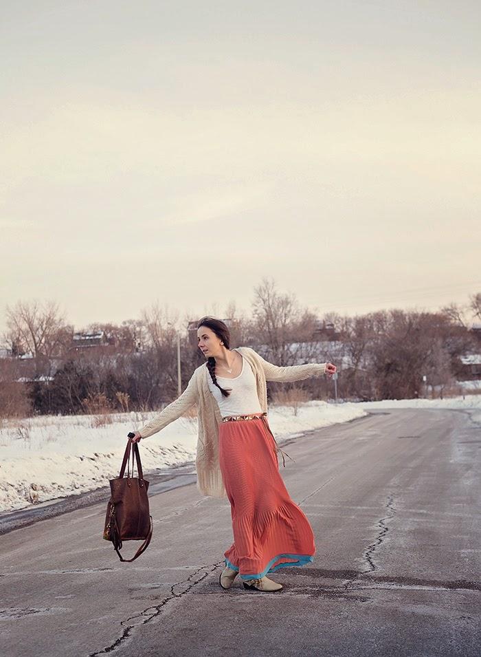 Maxi-Pleated-Chiffon-skirt