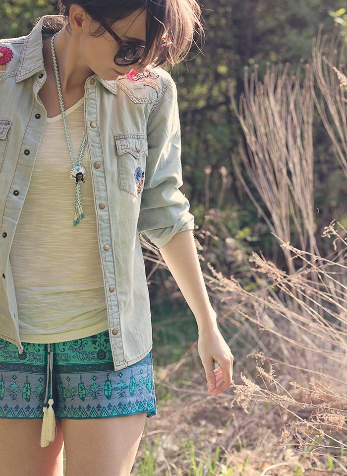 Spell-Designs-Shorts-Denim-Shirt-Boho