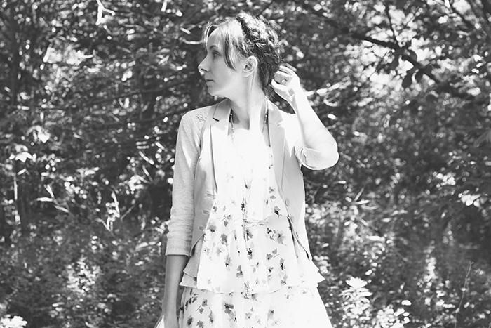 Tiered-dress-classic-khaki-vest